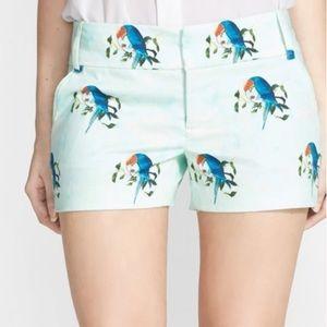 alice + olivia Bird Print Cady Shorts